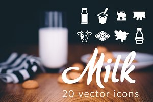 MILK - vector icons