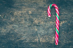 Striped Christmas candy canes