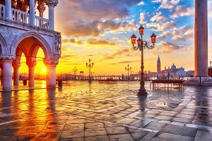 Sunrise at Piazza San Marco in Venice