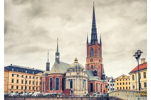 Riddarholm Church In Stockholm, Sweden