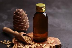 Essential cedar oil with cones