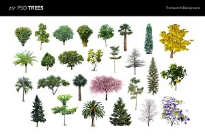 25+ PSD Trees Collection
