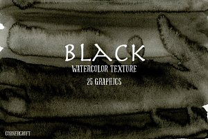 Watercolor Texture Black