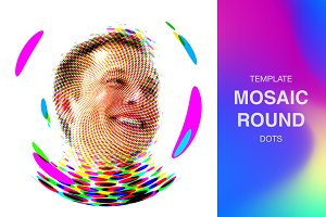 MOSAIC ROUND DOTS | PSD template