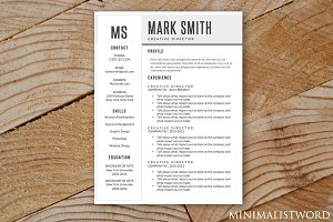 Minimal Resume Template MS Word
