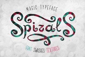 Spirals font + textures