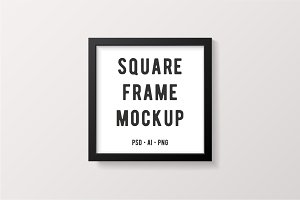 Black Square Frame Mockup
