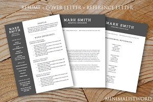 Resume Cover Letter References 3Pack