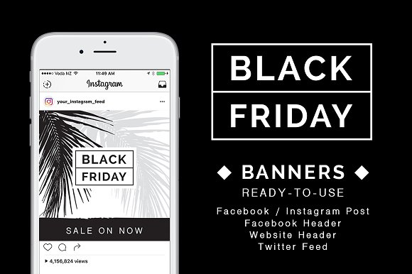 BLACK FRIDAY SALE BANNER PACK