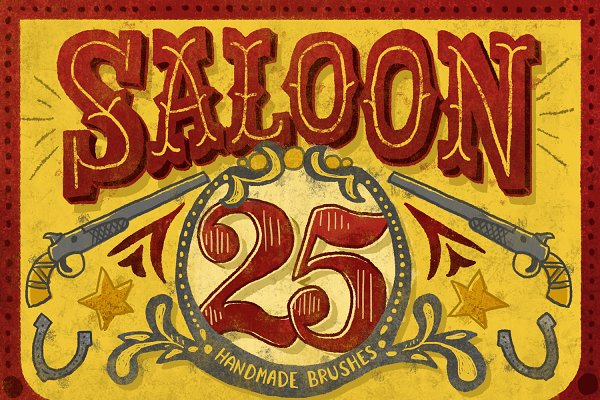 Saloon Photoshop Brush Collection