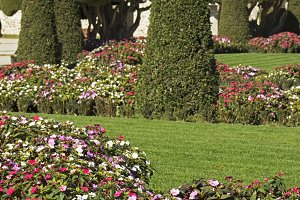 Parterre gardens of Madrid