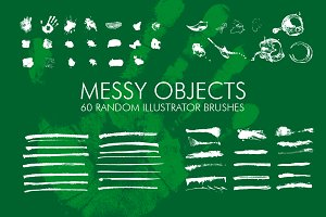 60 Messy Illustrator Brushes