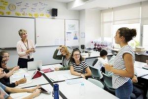 Students in school