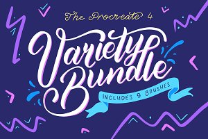 Procreate 4 Variety Brush Bundle
