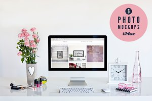 ★ female ★ 6 iMac photo mockups