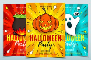 Halloween Party Flyers Templates