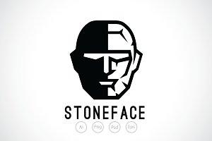 Stone Face Logo Template