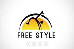 Free Style Sport Logo Template