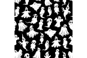 Halloween ghost seamless pattern background design