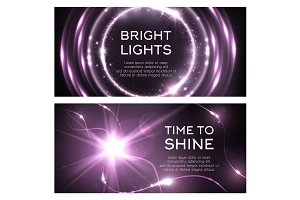 Light effect of shine flash beams burst vector icon
