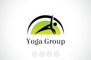 Yoga Group Logo Template