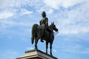 Monumental equestrian statue.