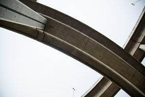 Winding curve bridge.