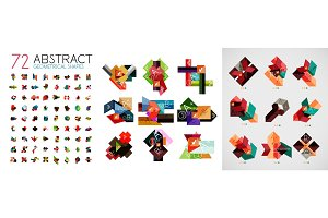 Mega collection of abstract infographic paper templates