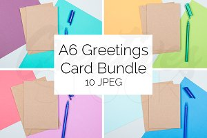 A6 Kraft Card Bundle STOCK - 10 JPEG