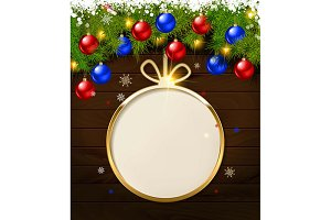 Holiday round frames