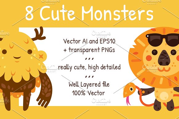 8 Cute Monsters