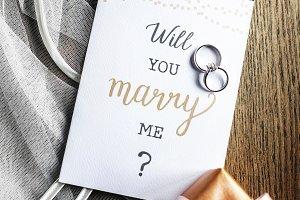 Wedding proposal card