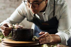 Wedding cake preparation