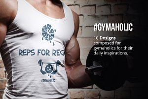 Gymholic & Fitness Print Design Pack