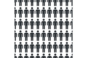 Person Icon Seamless Pattern Vector Illustration