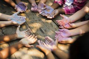 Children participating in activities