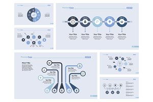 Six Production Slide Templates Set