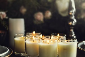 Candles Lighten Up on Table