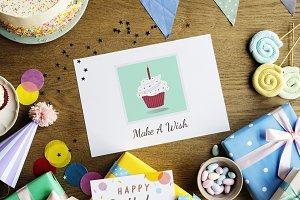 Birthday Celebration with Cake