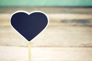 Mini chalkboard, heart shape
