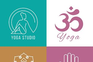 Yoga logo set