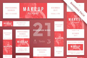 Banners Pack | Makeup For Myself