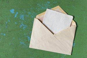 Old postal envelope