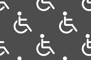 Wheelchair seamless pattern