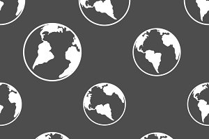 Silhouette planet earth pattern