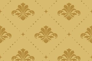 Seamless pattern background baroque