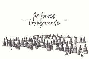 Fir forest backgrounds