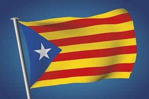 Estelada flag catalonia