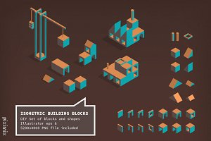Isometric Building Block Set