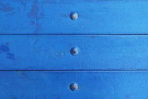 Blue Painted Wood Rivets Texture